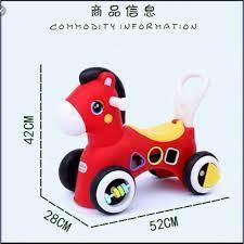 Xe chòi chân FREESHIP hình con ngựa, phát nhạc kèm đồ chơi thả hình Xe chòi  chân cho bé từ 1 đến 3 tuổi DC014 | Xe đạp trẻ em