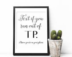 Funny Bathroom Art, Typography Print, Funny Art Print, Bathroom Wall Art,  Bathroom
