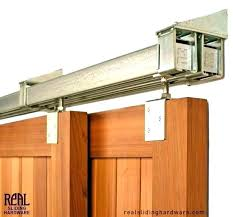 barn door rail system track exterior sliding glass