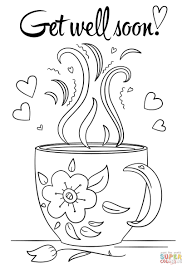 Coloring Pages Coloring Pages Get Well Soon Sheet With Doodle Page