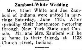 Ethel (Rhodes) White widow of James Eli White marriate ot Joe Zamboni -  Newspapers.com