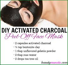 diy activated charcoal l off mask