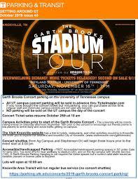 Neyland Stadium Garth Brooks Seating Chart Garth In Knoxville Gaut October 2019 Garth Brooks