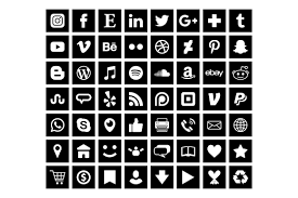 Download 279 free runner icons in ios, windows, material and other design styles. Black Square Social Media Icons Set Graphic By Running With Foxes Creative Fabrica