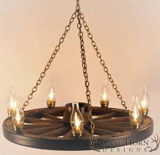 small wagon wheel chandelier and decor wooden wheels with lamps exciting shapes for home lighting antique
