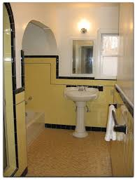 1940 Bathroom Design Delectable Classic Bathroom In Yellow And Black 48's Bungalow Pinterest