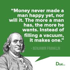 Benjamin Franklin Quotes Enchanting Benjamin Franklin Quote Money Is A Vacuum Due