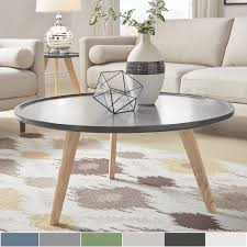 Hayden Mid-Century Round Coffee Table by iNSPIRE Q Modern.