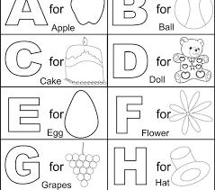 Alphabet Printable Coloring Pages Alphabet Printable Coloring Pages