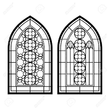 vintage window drawing. gothic windows. vintage frames. church stained-glass windows stock vector - 47936085 window drawing e