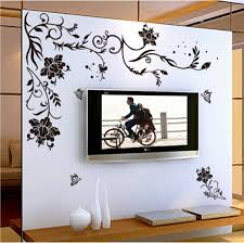 Wallpaper Design Home Decoration Black Flower vine butterfly vinyl wall stickers home decor rooms 36