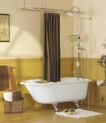 clawfoot tub shower enclosure