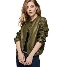 escalier womens leather jacket zipper