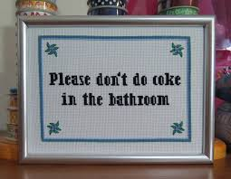 subversive bathroom cross stitch pattern