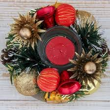 """<b>Подсвечник на одну</b> свечу """"Рождество с колокольчиками"""" 13*4,5 см"""