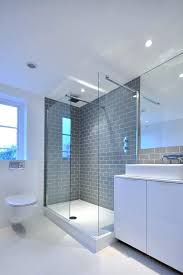 gray subway tile bathroom gray subway tile bathroom contemporary with grey metro glass shower grey subway
