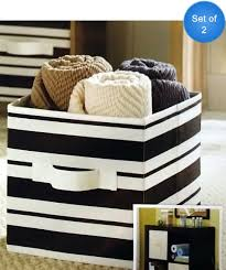 better homes and gardens collapsible fabric storage cube set of 2 black stripe