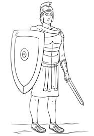 Roman Soldier Colouring Roman Soldier Coloring Page Free Printable
