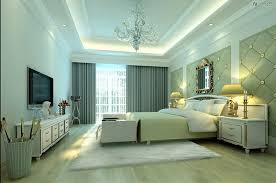 False ceiling with lights for bedroom with flat screen TV