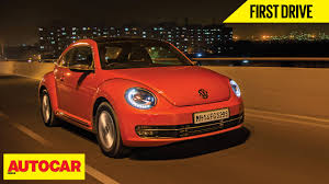 Volkswagen Beetle | First Drive | Autocar India - YouTube
