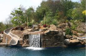 Swimming Pools With Waterfalls And Slides Pool Design Ideas