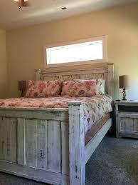 Cal King Rustic Bed Frame Rustic Natural Tone King Platform Of Home ...