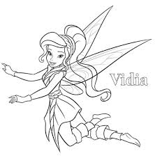 disney fairy vidia coloring pages