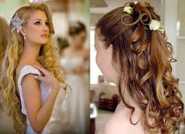 long wedding hairstyles with flowers