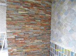 interior decoration stone wall decorative stone brown slate cultured stone