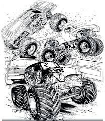 Monster Truck Coloring Page For Kids Coloring Pages Online