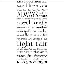Good Morning And Goodnight Quotes Best Of Kiss Me Good MorningKiss Me Good Night Wall Saying Vinyl