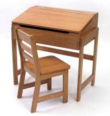 furniture brown varnished wooden vintage children s school desk and