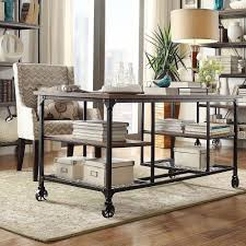 Nelson Industrial Modern Rustic Storage Desk by iNSPIRE Q Classic by  iNSPIRE Q