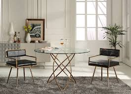 norma 5pcs modern dining set round table 4 chairs