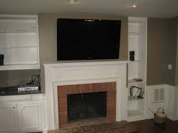 fireplace mantel tv mount premium best ideas how to hide tv wires