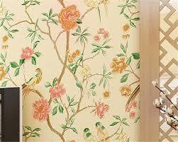 Beibehang Moderne Stijl Bloemen En Vogels 3d Behang Woonkamer