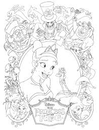 Small Picture Princess the Frog Coloring Pages
