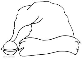 santa claus hat coloring page. Plain Hat Santa Claus Hat Coloring Page And Cool2bKids