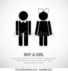 Boy and girl restroom sign Boy and girl symbols vector signs for Inspiration Bathroom Sign Vector
