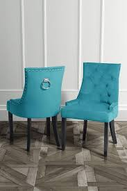 torino teal ring back dining chair blue scoop back with stud detailing and ring back with black legs my furniture