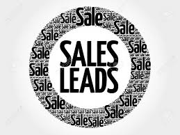 Sales Leads Word Cloud Collage Business Concept Background Royalty