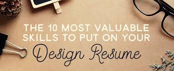 The 10 Most Valuable Skills To Put On Your Design Resume ~ Creative ...