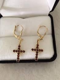 lovely 8ct carat gold bohemian garnet antique by trendscouture garnet jewelry garnet earrings