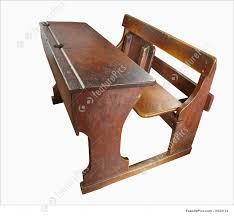 antique furniture vintage school desk isolated with clipping path