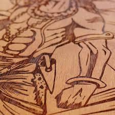 Wood Engraving   Shiva Carved Wooden Poster By Woodgeek Store   Hindu God Wooden  Artwork