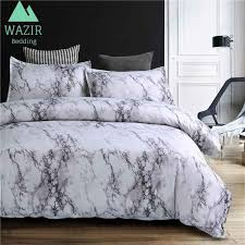 wazir marble printing bedding set duvet cover pillowcase size single au eu double full queen king best comforter sets black and white duvet cover from