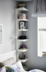 Storage & Organization: Built In Corner Shelves In Under Stairs - Corner  Shelves
