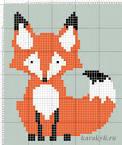 Схема вышивка лиса