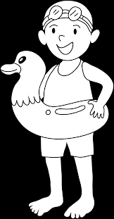 kid swimming clipart black and white. Beautiful Clipart Jpg Black And White Library Coloring Page Of Going Free Clip Art Vector  Kid Swimming  And Swimming Clipart Black White