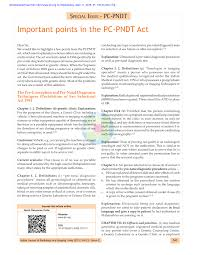 Pdf Important Points In The Pc Pndt Act